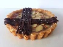 Salted Dark Chocolate Honey-Nut Tart