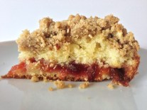 Spiced Crumb Cake with Plum Preserves