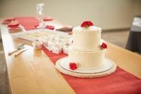 Lemon & Buttercream Valentine's Day Wedding Cake