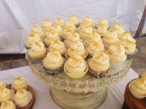 Lemon Cupcakes with Raspberry Curd and Candied Zest