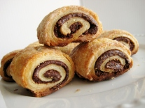 Chocolate-Hazelnut Rugelach with Cream Cheese Pastry