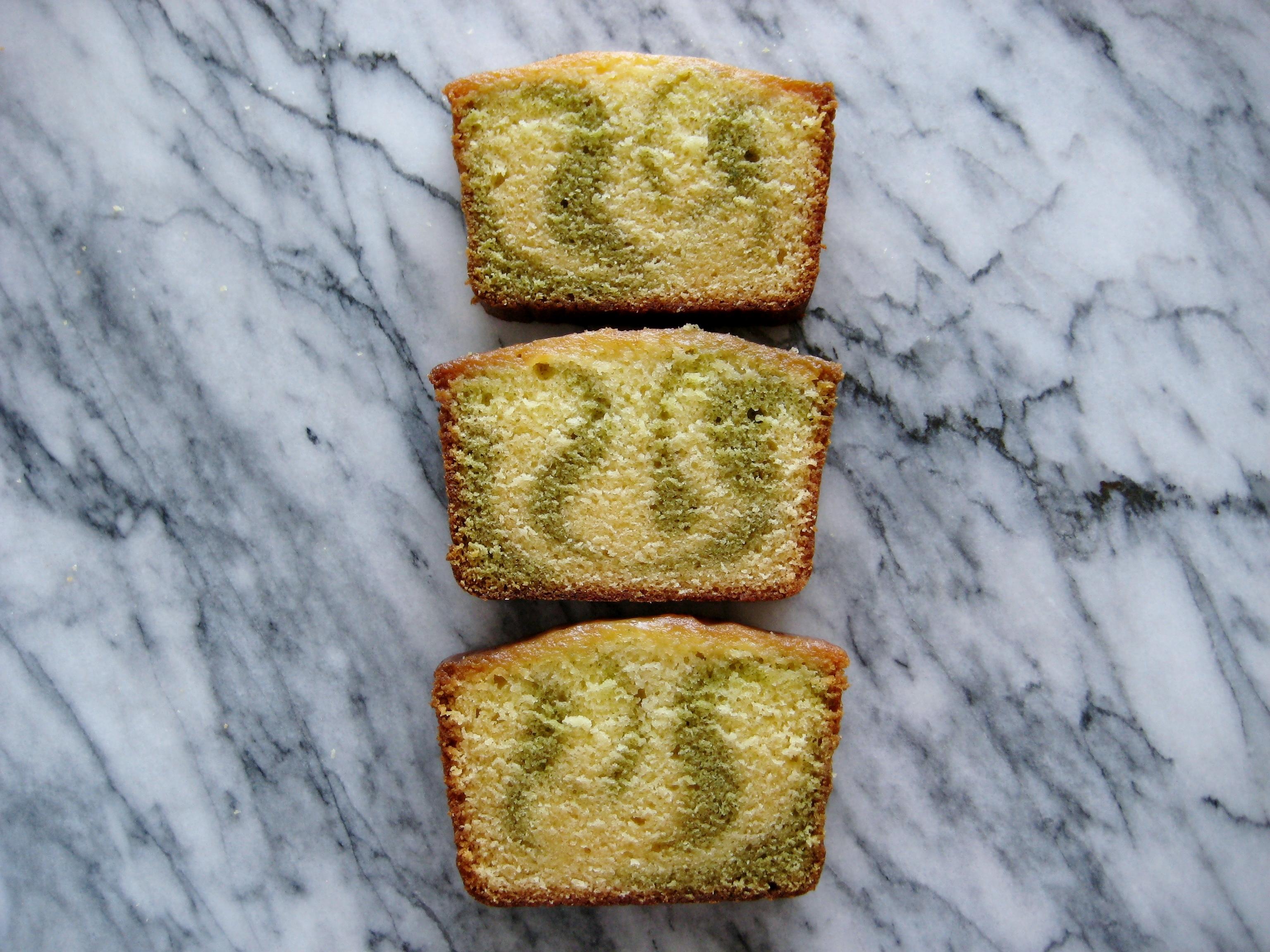 Lemon and Matcha Marble Pound Cake. makes one 9x5x4-inch pound cake ...