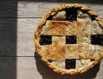 Blueberry-Cherry Pie in Pecan Pastry