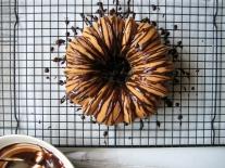Cardamom Pound Cake with Chocolate Glaze