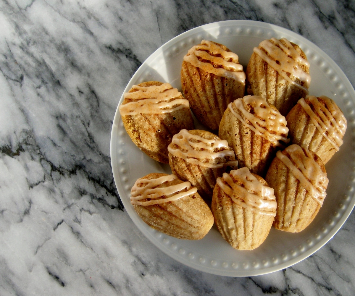 Brown Butter Spiced Madeleines
