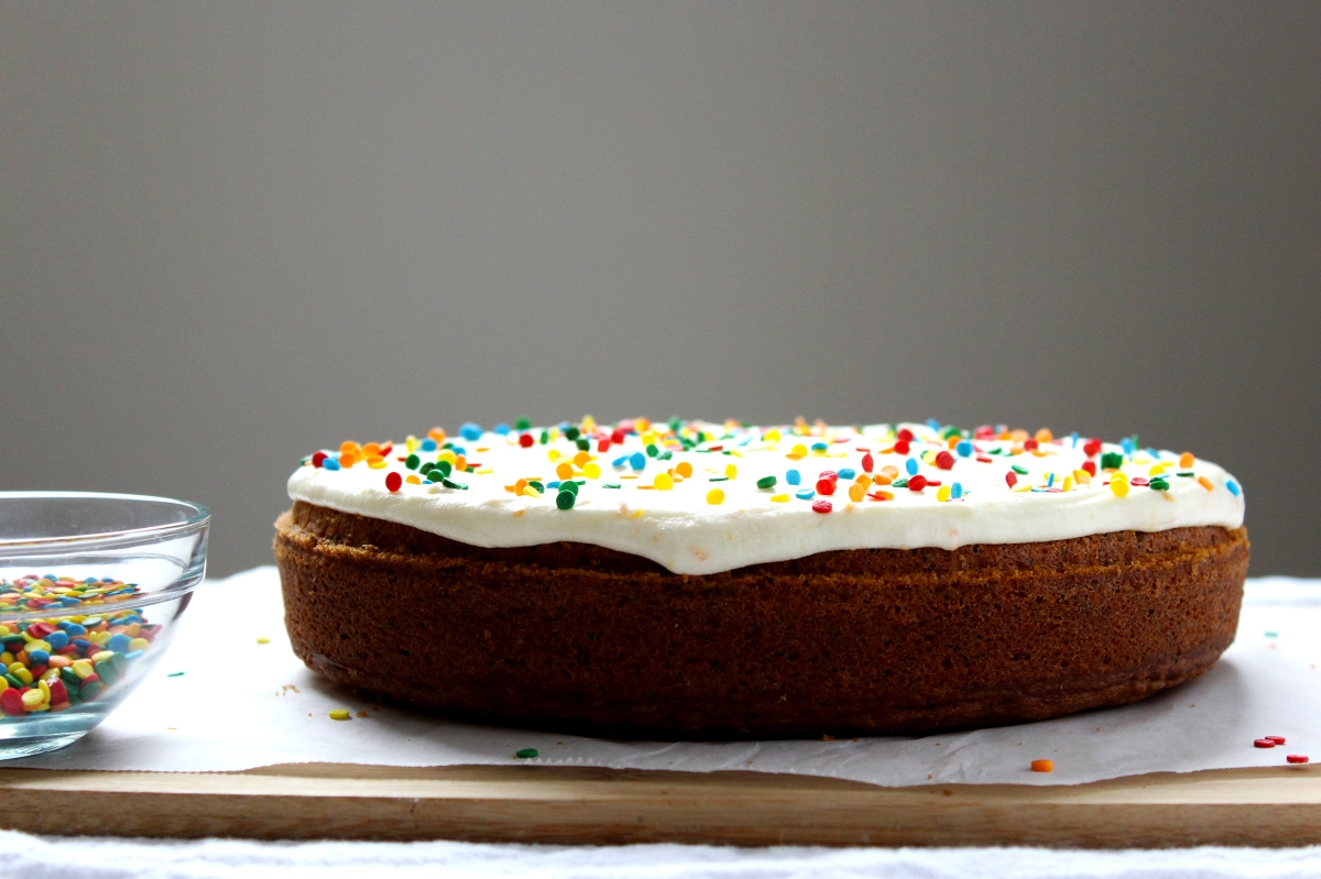 Orange Poppy Seed Sour Cream Cake