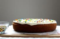 Orange Poppy Seed Sour Cream Cake